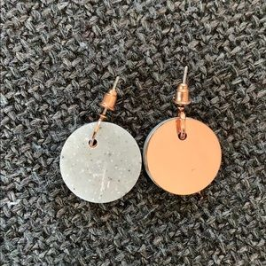 COS Rose Gold & Stone Earrings